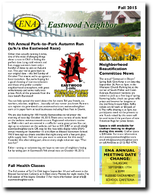 Eastwood Neighbor Fall 2015 Newsletter