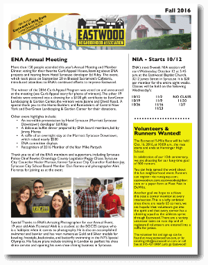 Eastwood Neighbor Fall 2016 Newsletter