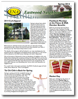 Eastwood Neighbor Summer 2014 Newsletter