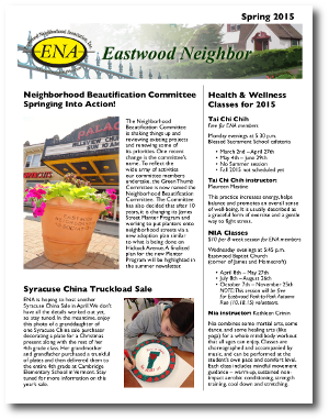 Eastwood Neighbor Spring 2015 Newsletter