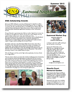 Eastwood Neighbor Summer 2015 Newsletter