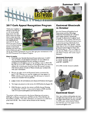 Eastwood Neighbor Summer 2017 Newsletter