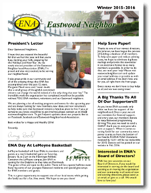 Eastwood Neighbor Winter 2015-16 Newsletter